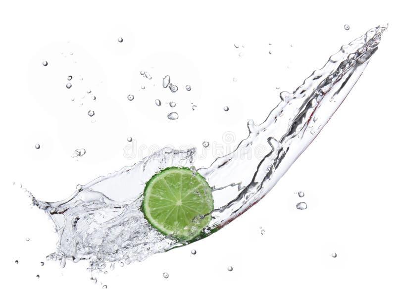 Verse kalk met waterplons royalty-vrije stock afbeeldingen