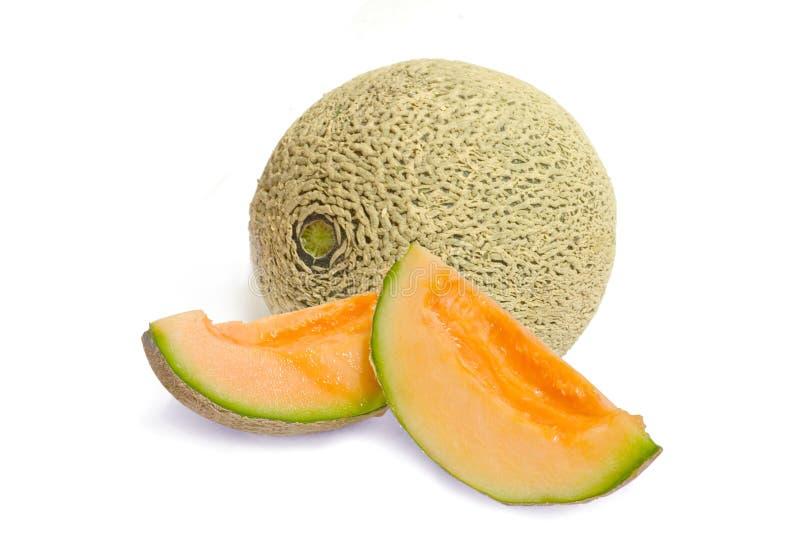 Verse kantaloepmeloen stock afbeeldingen