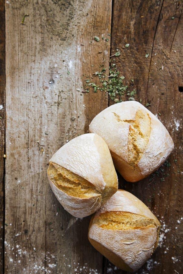 Verse knapperige broodjes royalty-vrije stock foto