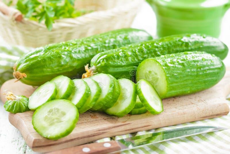 Verse komkommers stock foto
