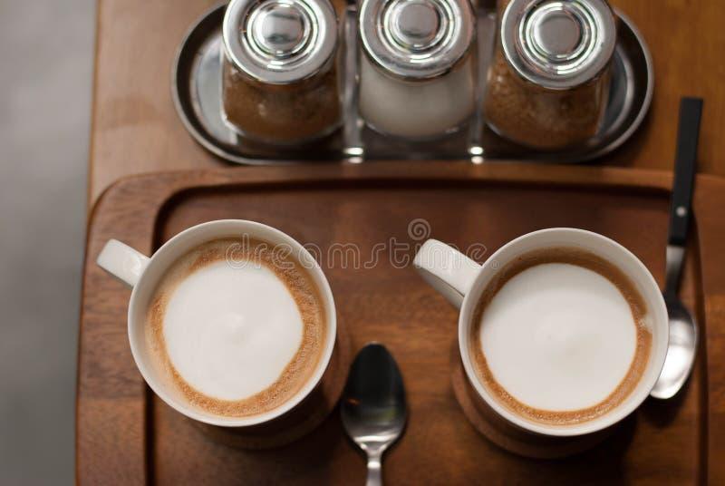 Verse koppen van koffie royalty-vrije stock fotografie