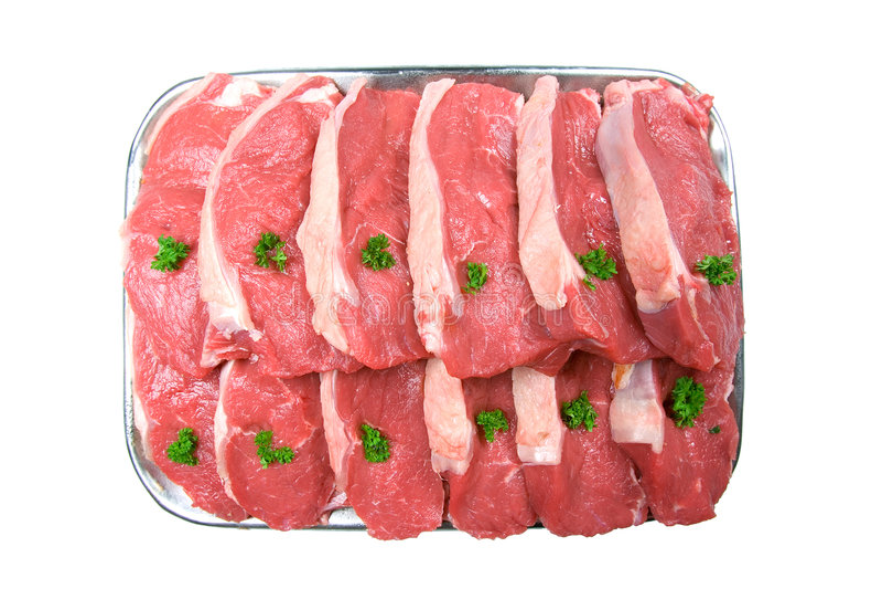Verse Lapjes vlees, Klaar voor de Grill stock fotografie