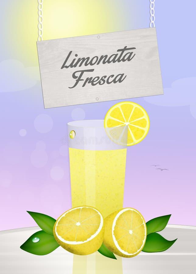 Verse Limonade royalty-vrije illustratie