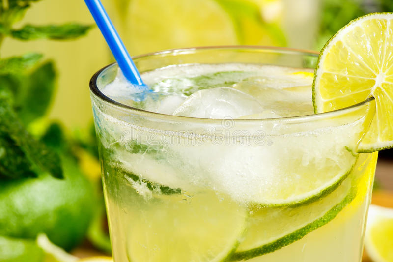 Verse limonadedrank royalty-vrije stock foto's