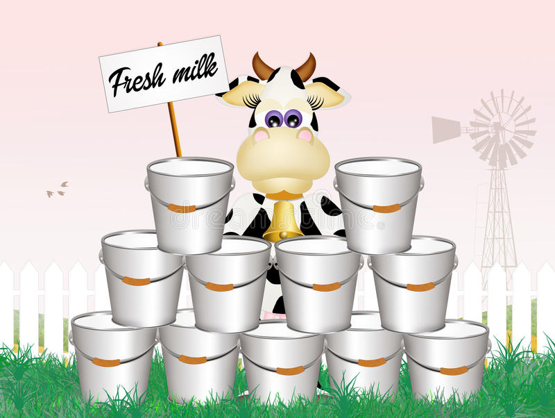 Verse melk stock illustratie
