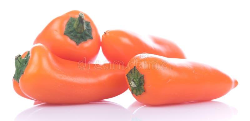 Verse mini oranje peper stock foto
