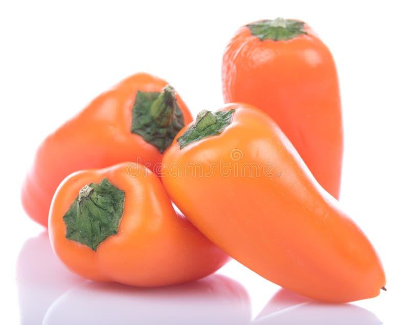 Verse mini oranje peper royalty-vrije stock foto