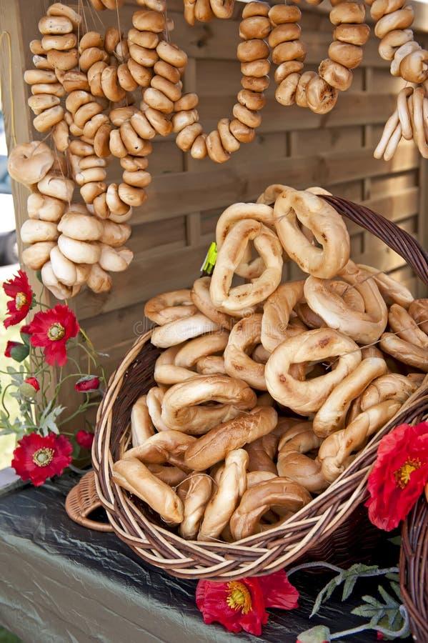 Verse ongezuurde broodjes stock foto's