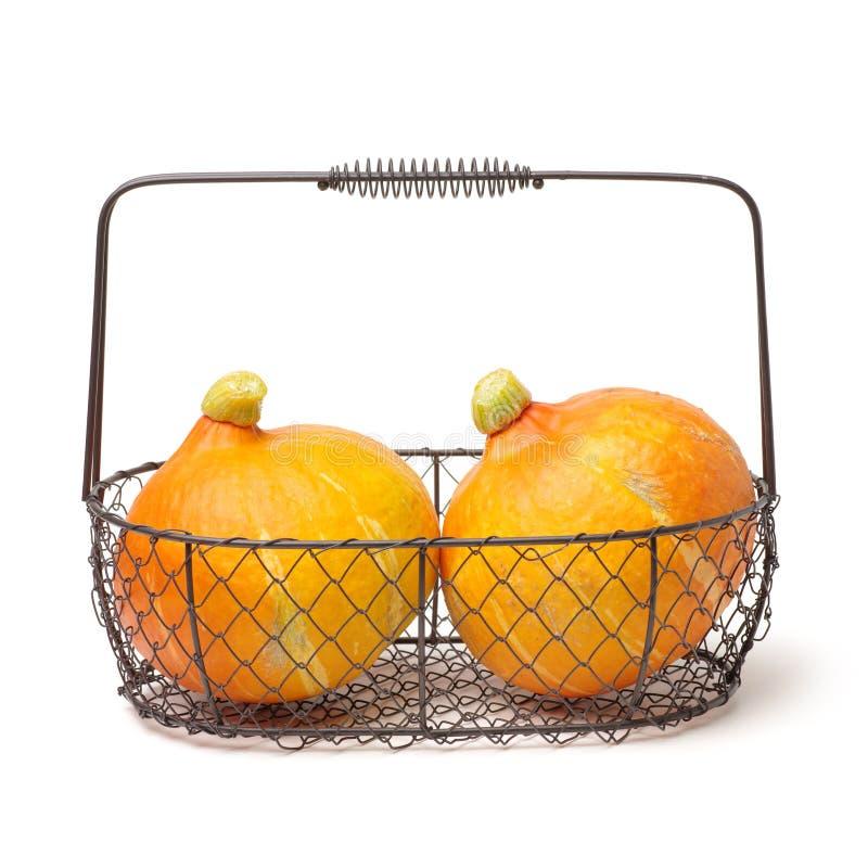 Verse Oranje Ongesneden Pompoen royalty-vrije stock fotografie