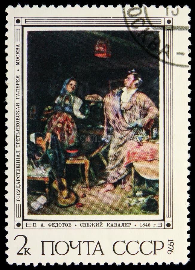 Verse Orde Chevalier, Schilderijen door P A Fedotov serie, circa 1976 stock foto's