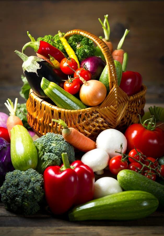 Verse, organische groenten stock afbeeldingen