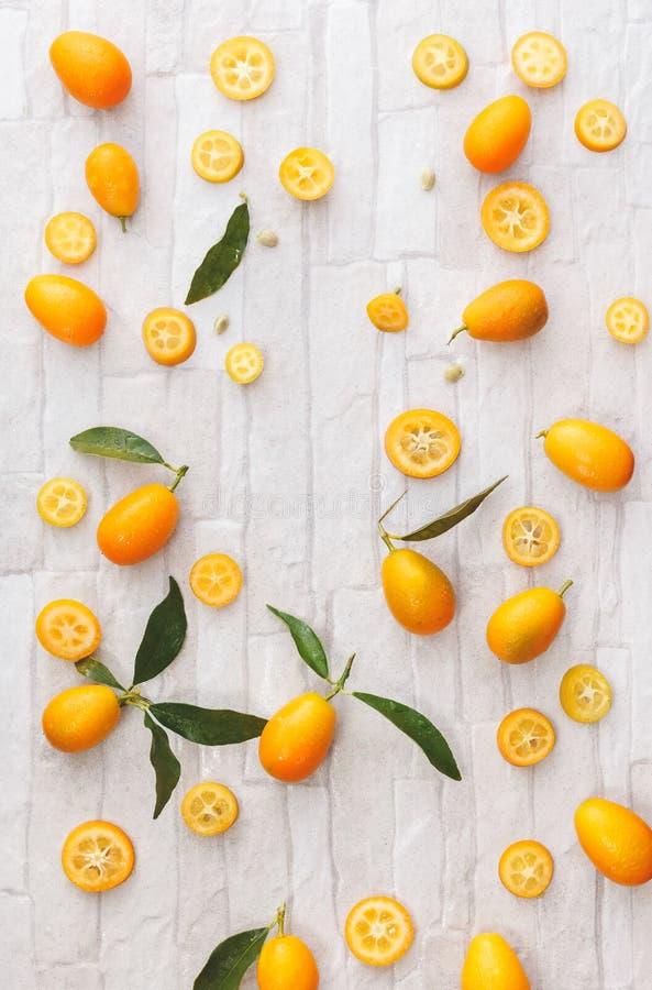 Verse organische kumquats royalty-vrije stock afbeeldingen