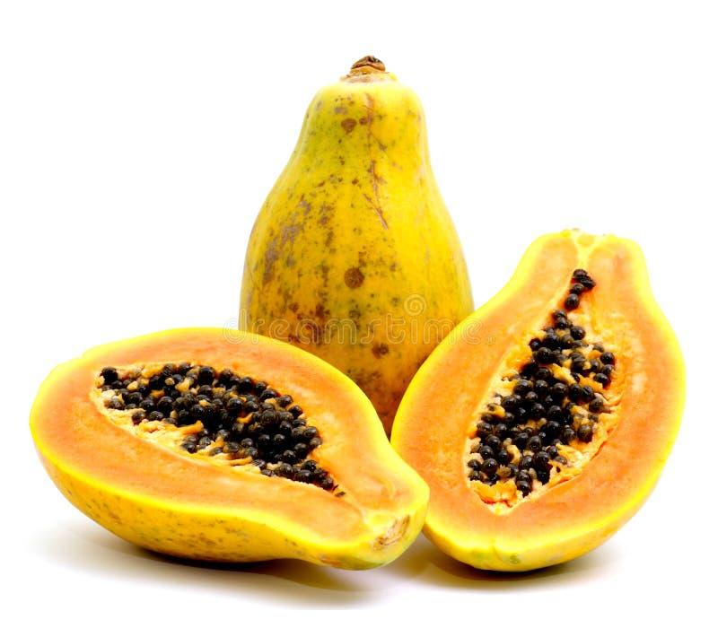 Verse papaja royalty-vrije stock foto's
