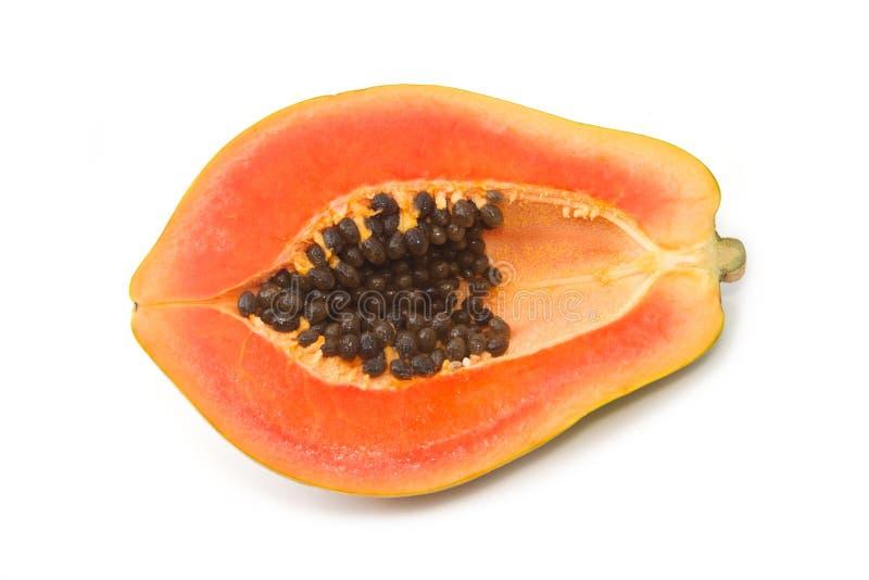 Verse papaja op isolate royalty-vrije stock afbeeldingen