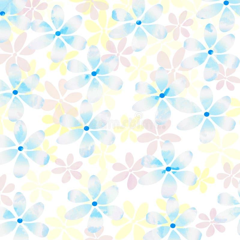 Verse pastelkleur bloemenachtergrond royalty-vrije illustratie