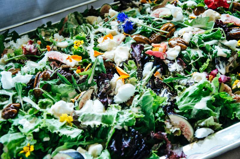 Verse Peruviaanse groene salade genoemd Nieuwigheid royalty-vrije stock afbeeldingen