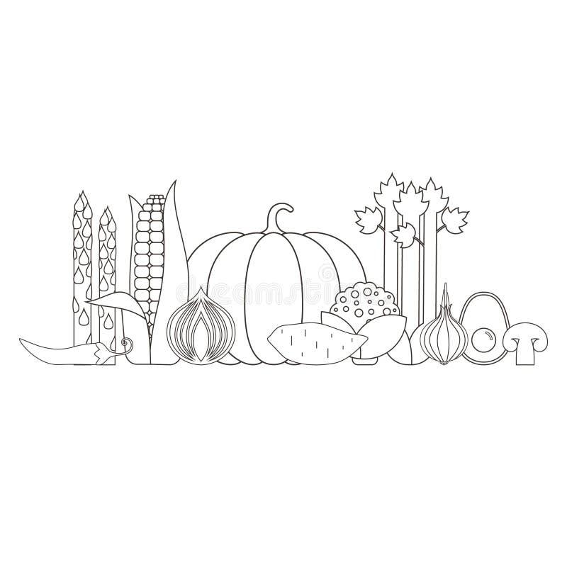 Verse product-groenten vegetables stock illustratie