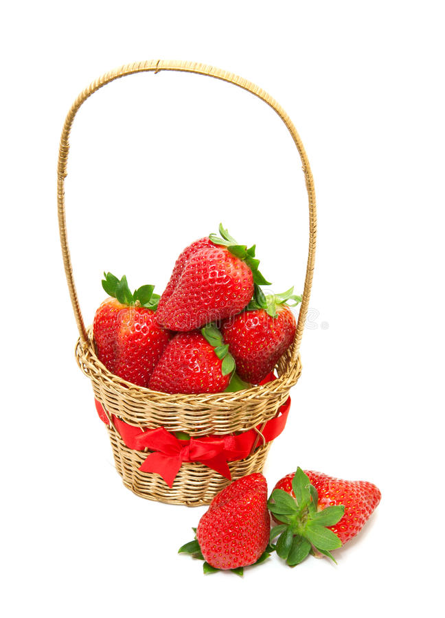 Verse, rijpe aardbeien stock fotografie
