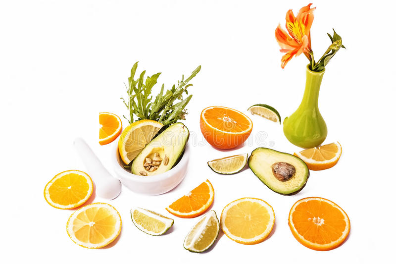 Verse rijpe avocado stock fotografie