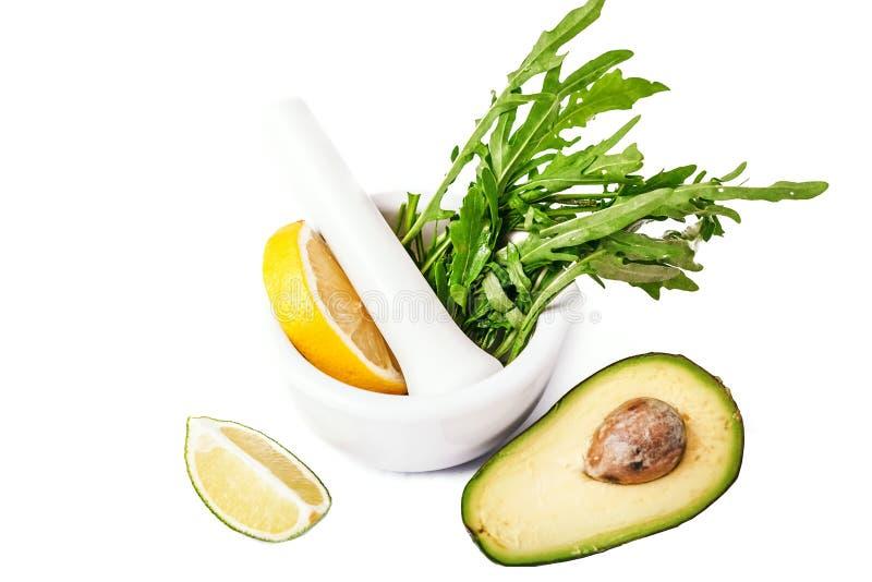 Verse rijpe avocado royalty-vrije stock afbeelding