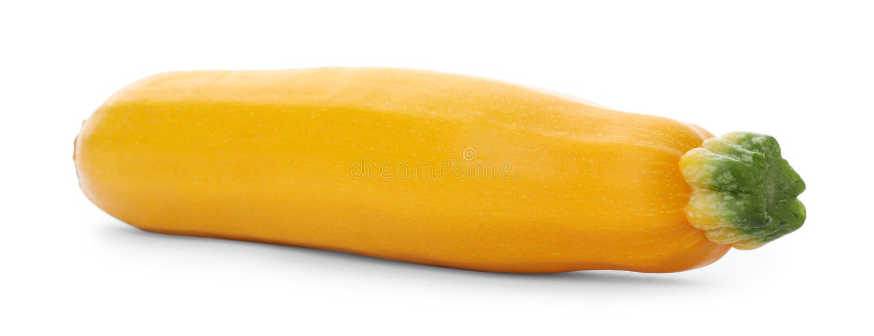 Verse rijpe gele geïsoleerde courgettepompoen royalty-vrije stock foto