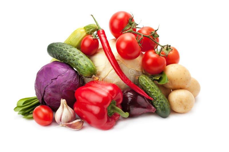 Verse, rijpe groenten stock afbeeldingen