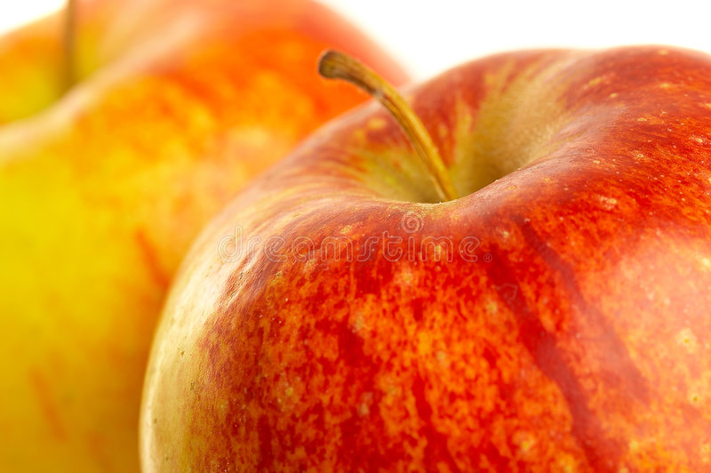 Verse rode appel. stock foto's