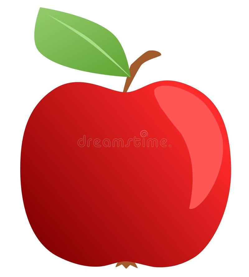 Verse rode appel - illustratie royalty-vrije stock afbeelding