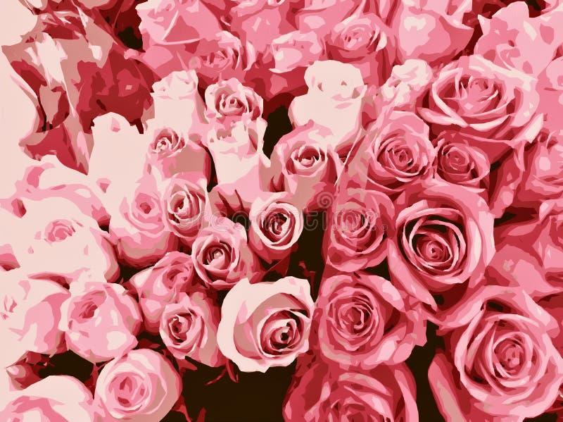 Verse roze rozen vector illustratie
