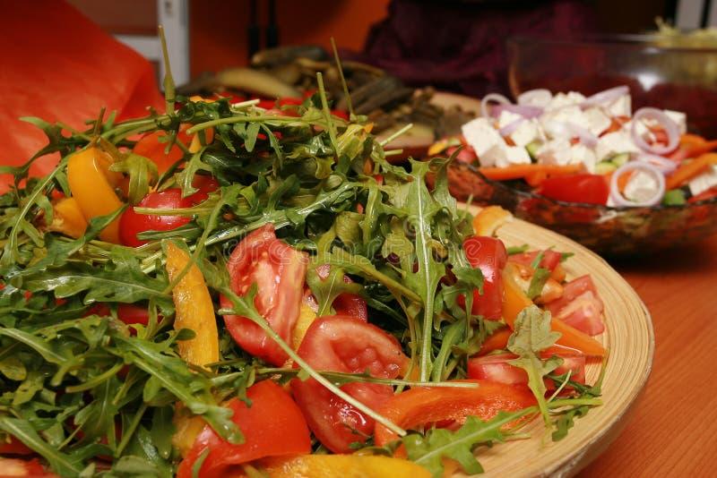 Verse salades royalty-vrije stock afbeeldingen