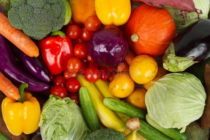 Verse samen gemengde Vruchten en Groenten stock fotografie