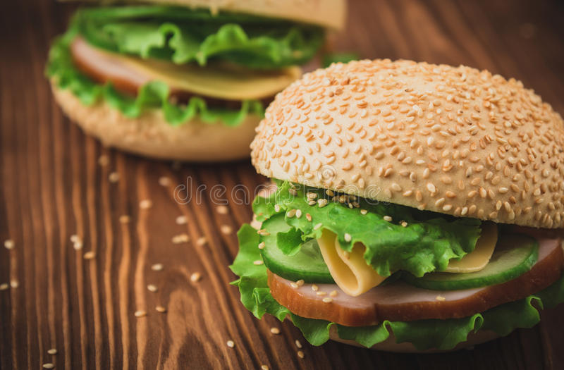 Verse Sandwiches royalty-vrije stock foto