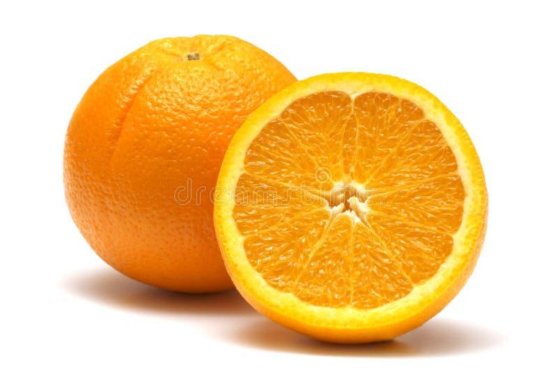 Verse sinaasappel twee stock foto's