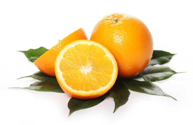 Verse sinaasappelen royalty-vrije stock afbeeldingen