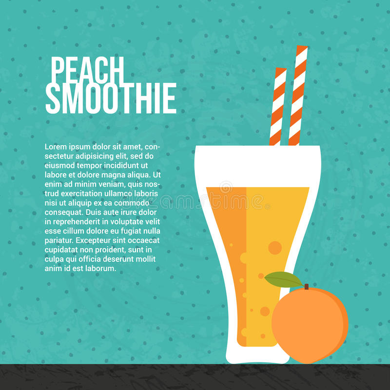 Verse smoothie royalty-vrije illustratie