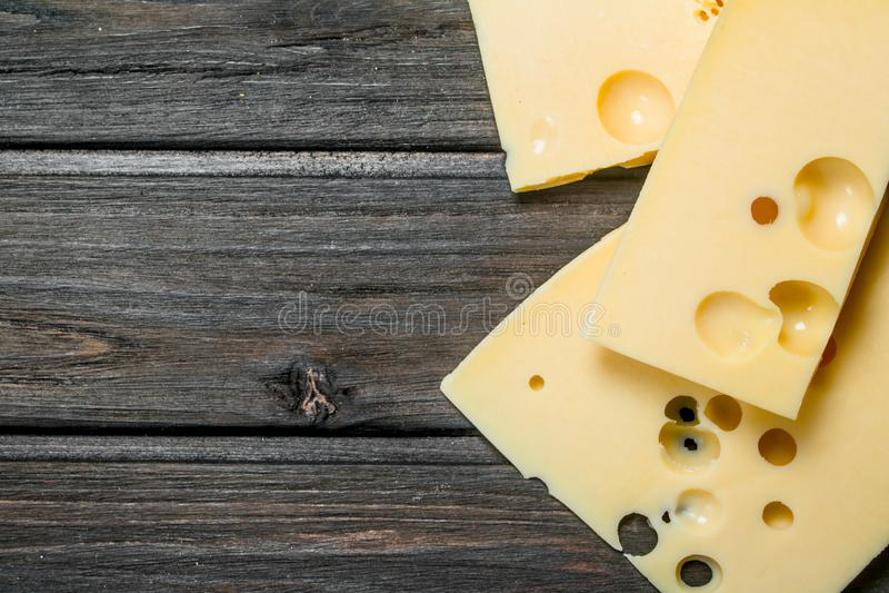 Verse stukken van kaas stock afbeeldingen