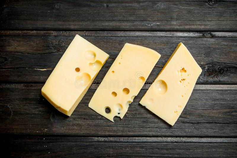 Verse stukken van kaas royalty-vrije stock foto's