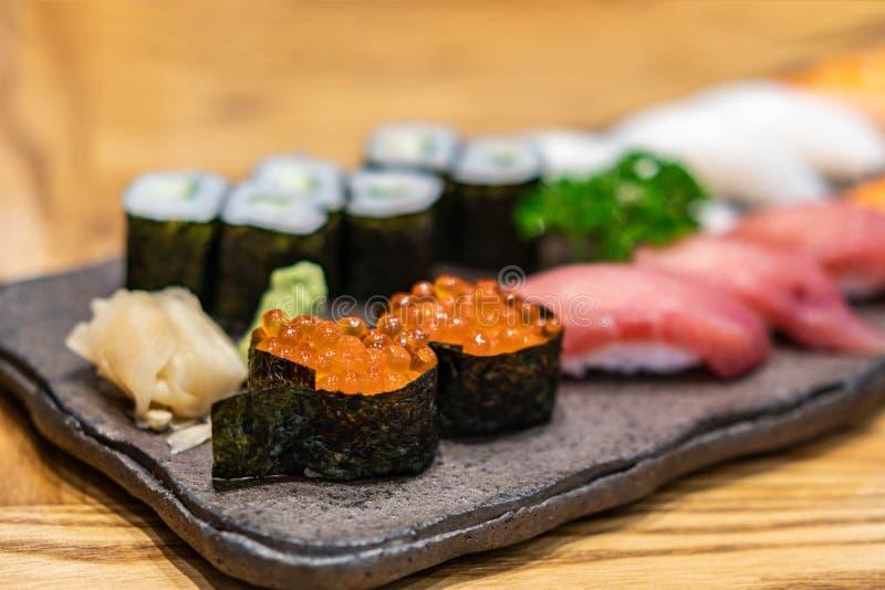 Verse sushi met selectieve focus stock foto's