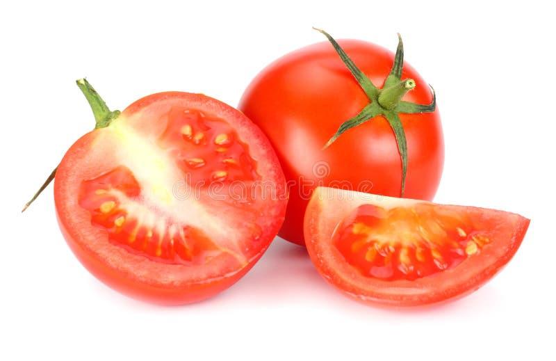 Verse tomaat die op witte achtergrond wordt geïsoleerd? Sluit omhoog royalty-vrije stock foto's