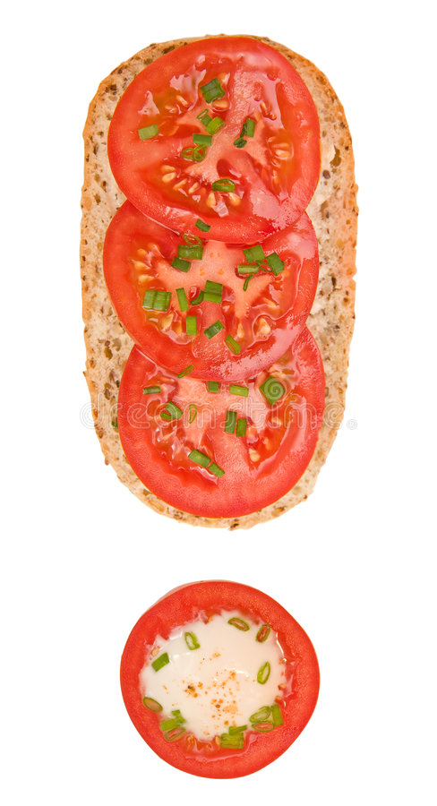 Verse Tomaten! stock foto