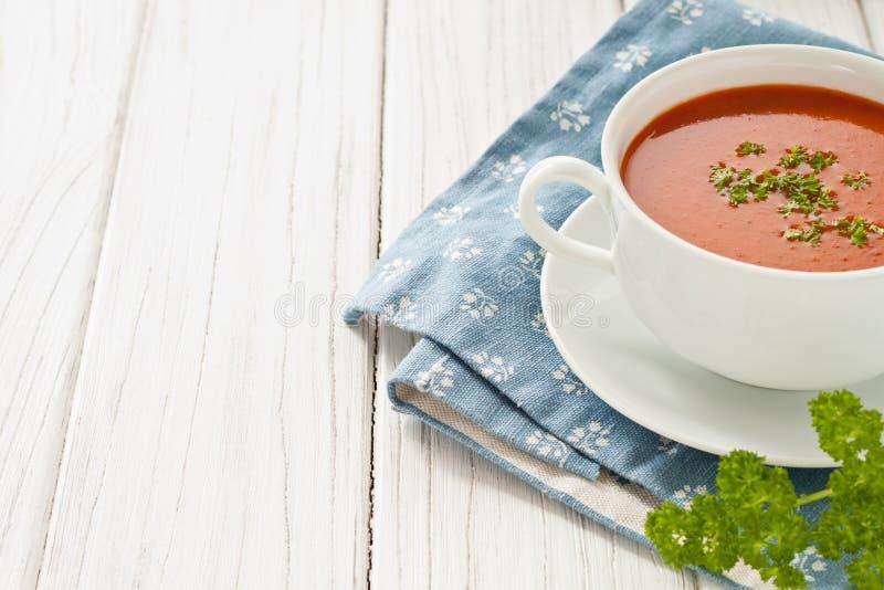 Verse tomatensoep stock afbeeldingen