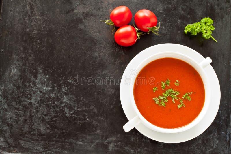 Verse tomatensoep royalty-vrije stock foto's