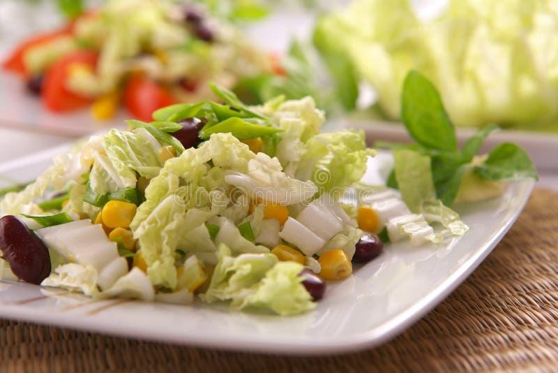 Verse vegetarische salade stock afbeeldingen
