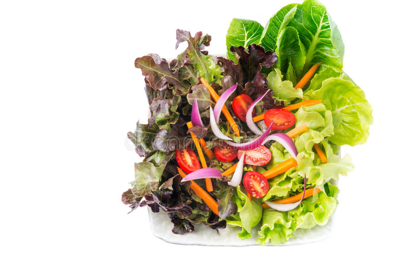 Verse vegetatiesalade stock foto's