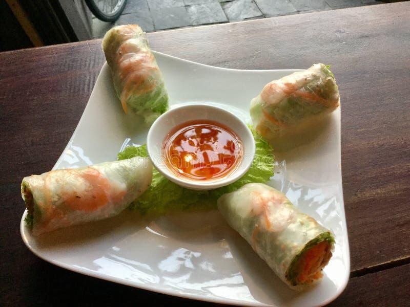 Verse Vietnamese de Lentebroodjes royalty-vrije stock fotografie