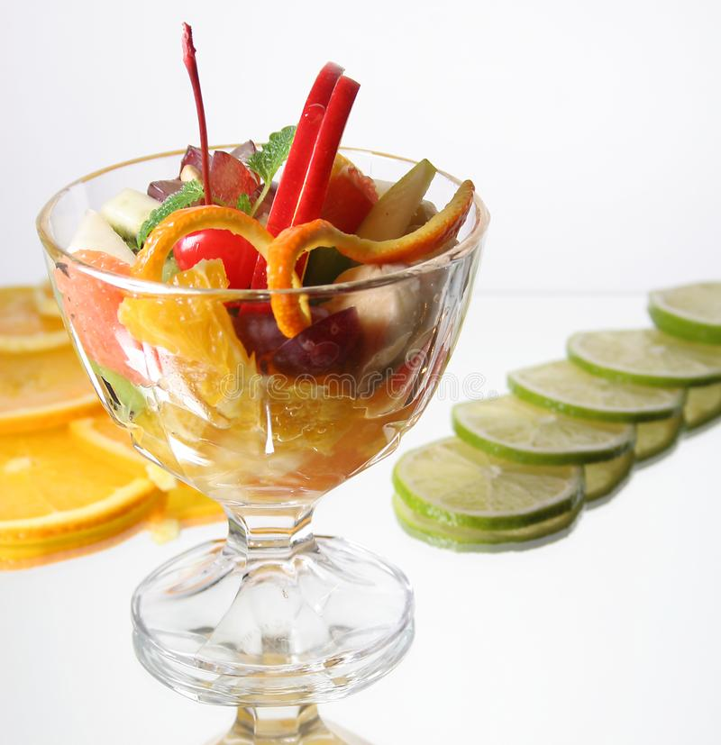 Verse vruchten dessert royalty-vrije stock foto