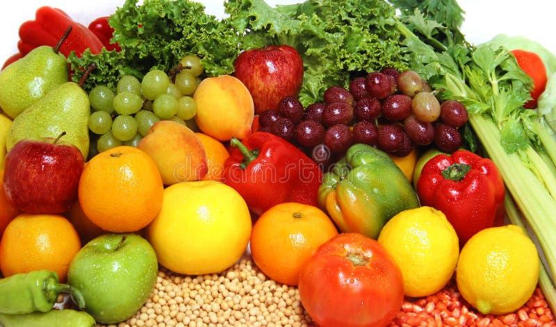 Verse vruchten en groenten stock foto's