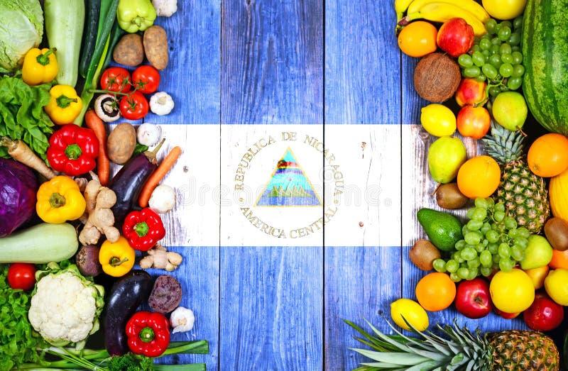 Verse vruchten en groenten van Nicaragua stock foto