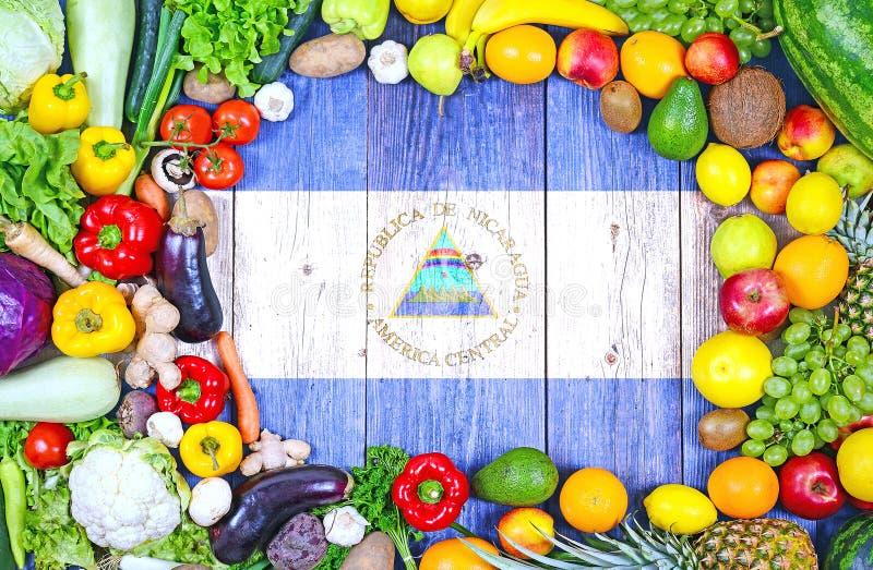 Verse vruchten en groenten van Nicaragua stock fotografie