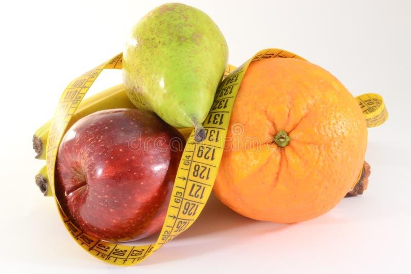 Verse vruchten en meter royalty-vrije stock afbeeldingen